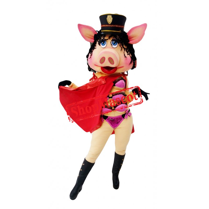 Custom Made Lady Piggy Mascot Costume