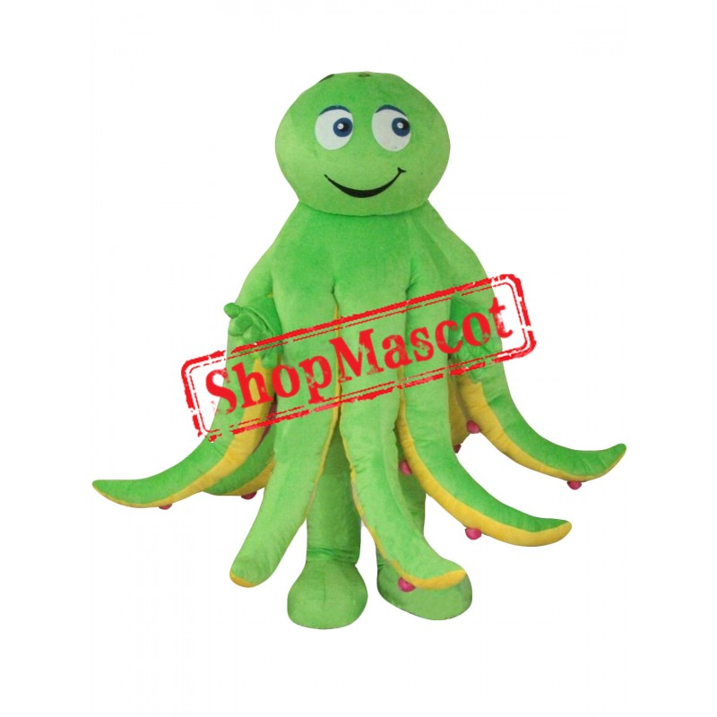 Superb Green Octopus Mascot Costume