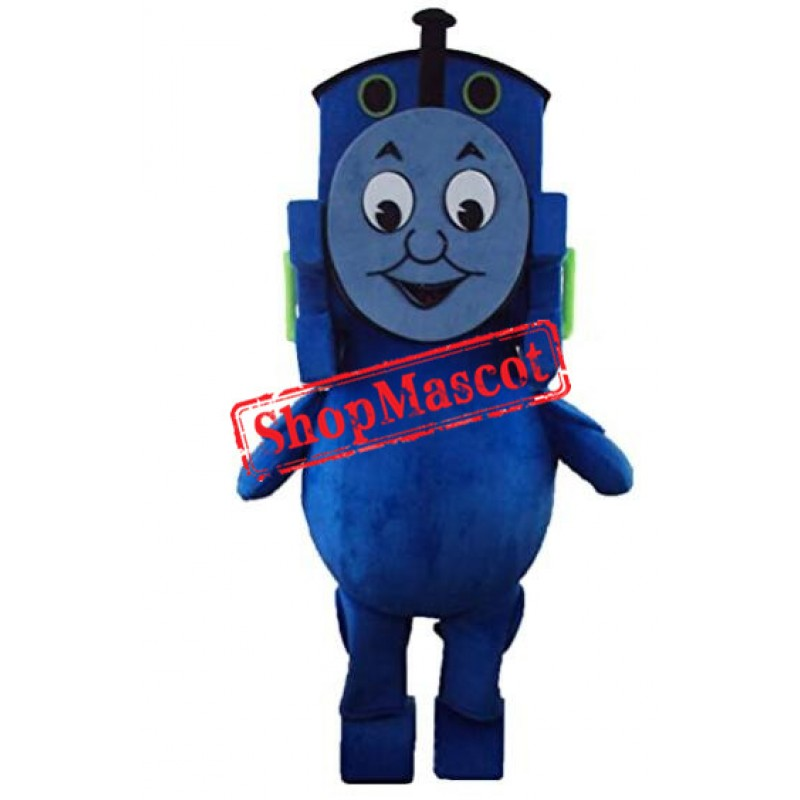 Blue Train Mascot Costume