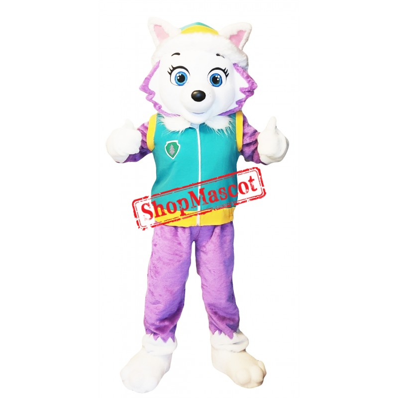Superb Paw Patrol Everest Mascot Costume