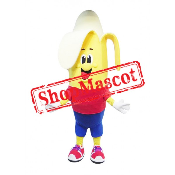 Happy Banana Boy Mascot Costume