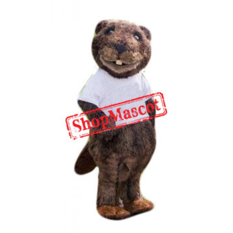Superb Beaver Mascot Costume
