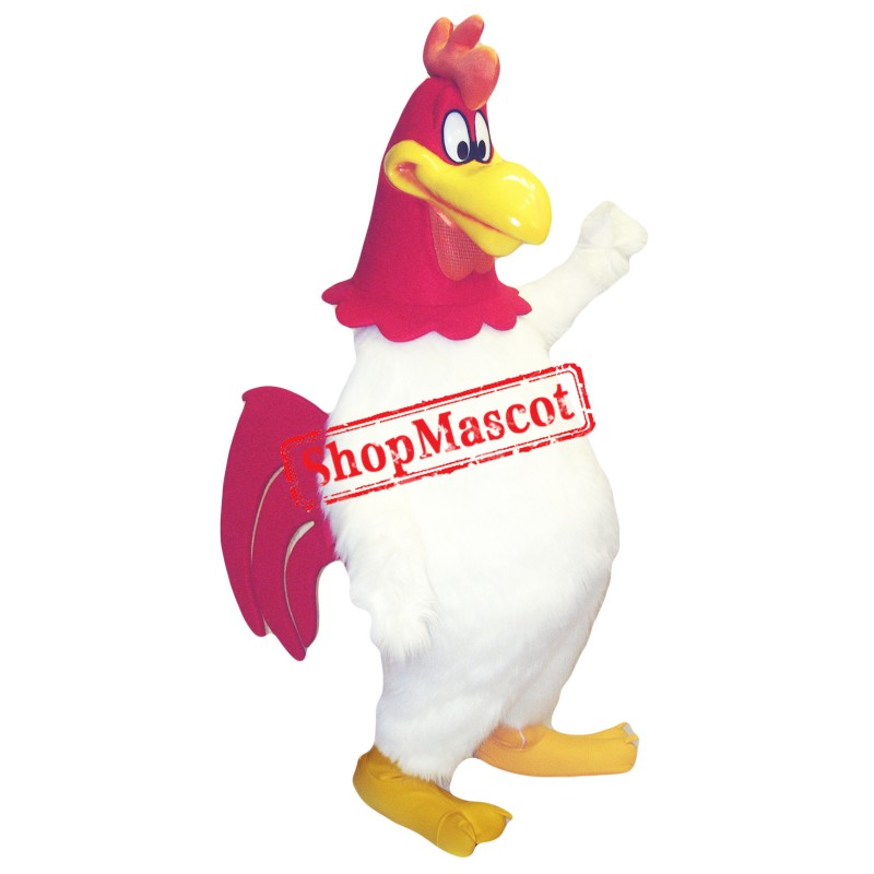 Superb White Chicken Mascot Costume