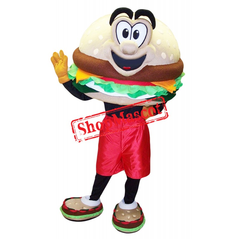 Happy Hamburger Mascot Costume
