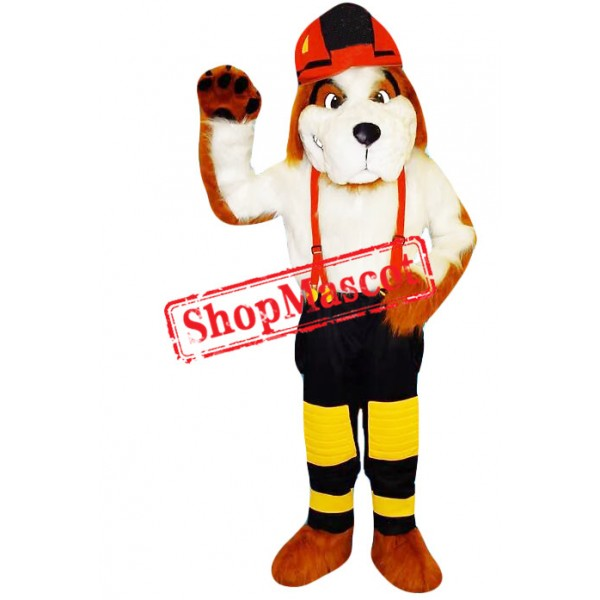Superb Fire Safety Dog Mascot Costume