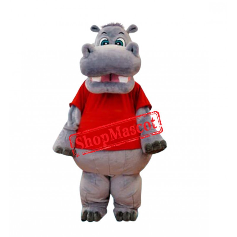 Superb Hippo Mascot Costume