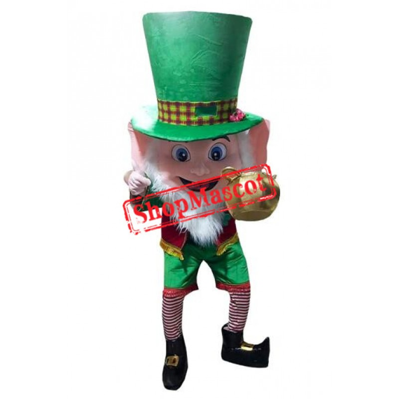 Leprechaun Irish Man Boy Mascot Costume
