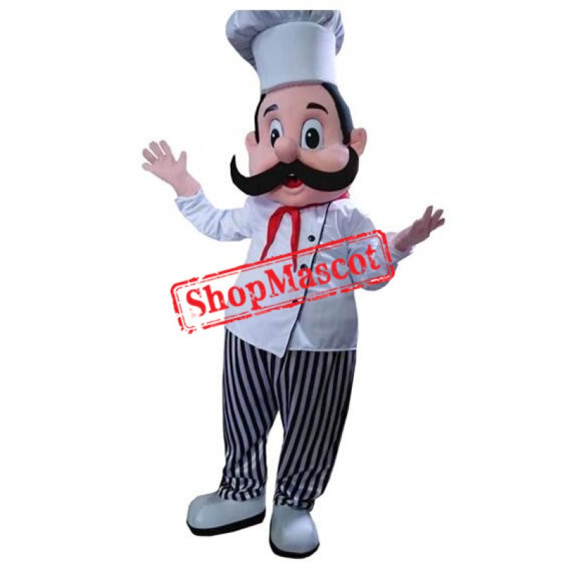 Chef Man Boy Mascot Costume