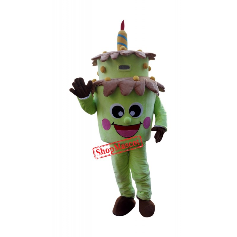 Green Birthday Cake Mascot Costume