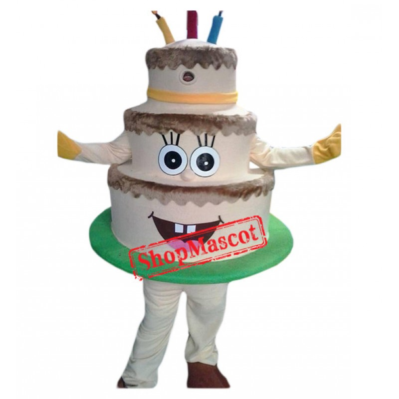 Professional Birthday Cake Mascot Costume