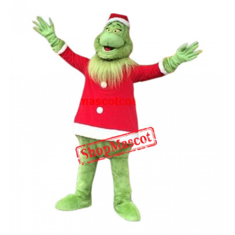Superb Christmas Grinch Mascot Costume