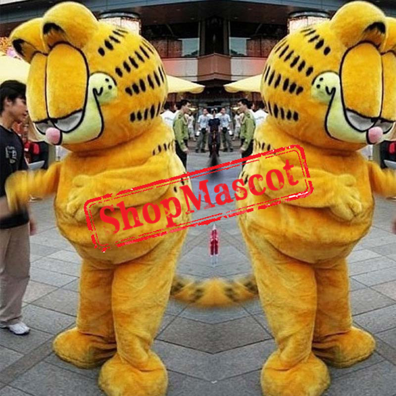 Superb Garfield Cat Mascot Costume