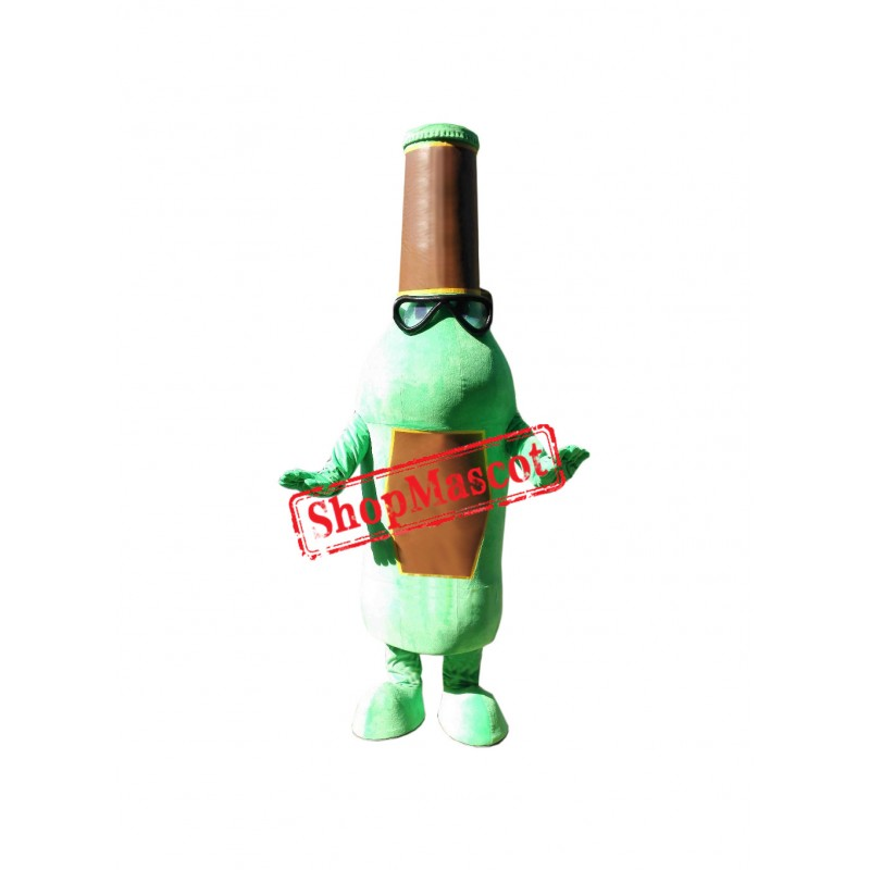 Green Bottle Mascot Costume