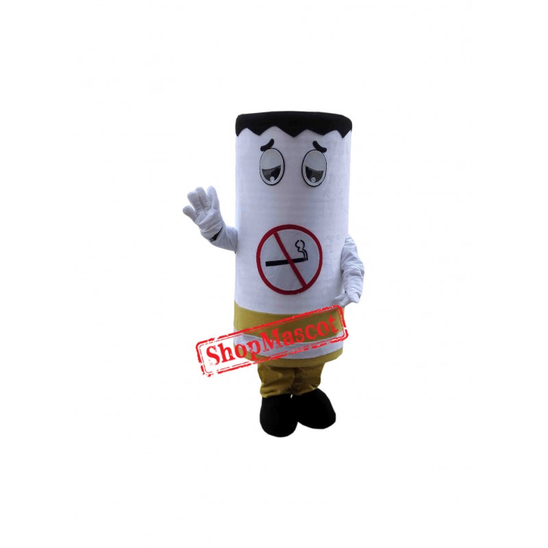 Superb No smoking Cigarette Mascot Costume
