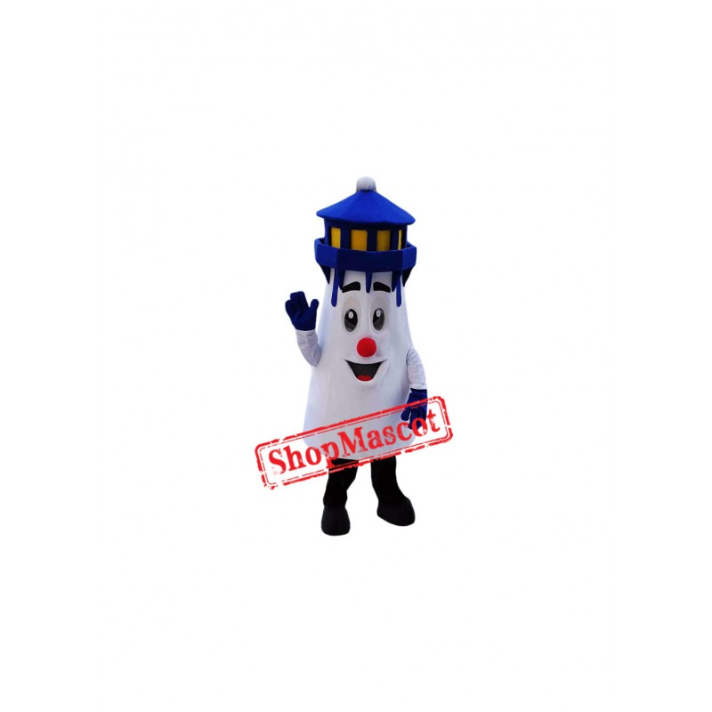 Superb Blue Lighthouse Mascot Costume