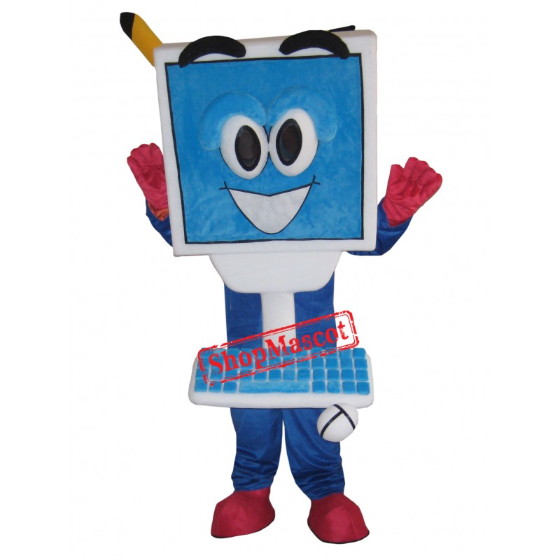 Superb Laptop Mascot Costume