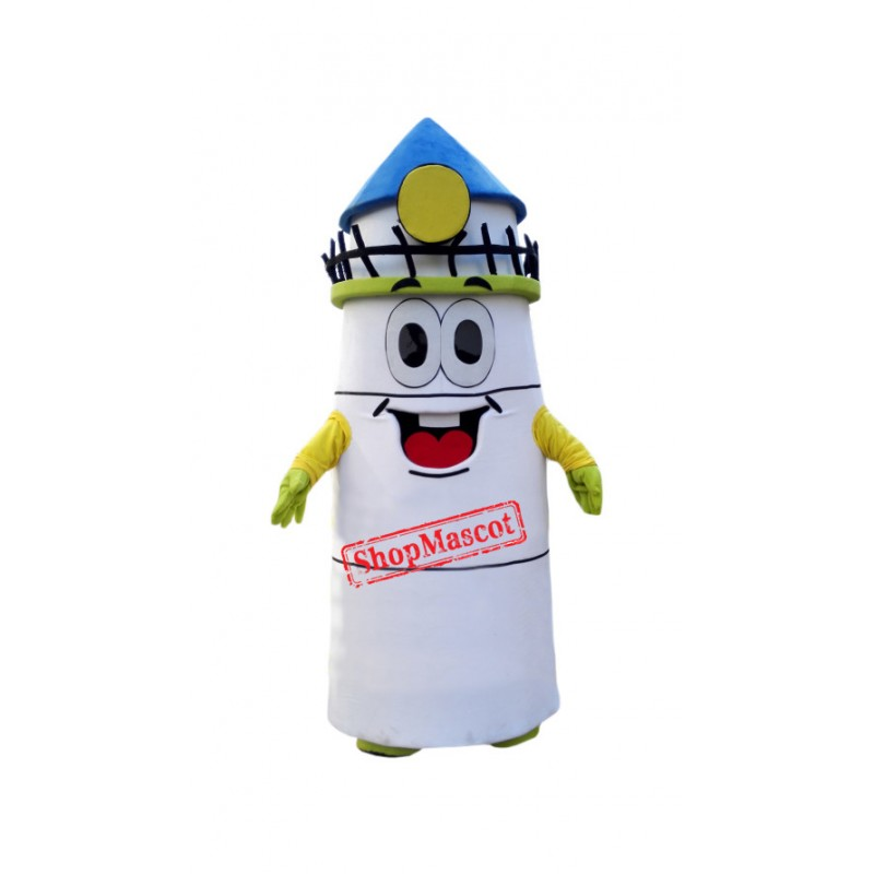 Superb White Lighthouse Mascot Costume