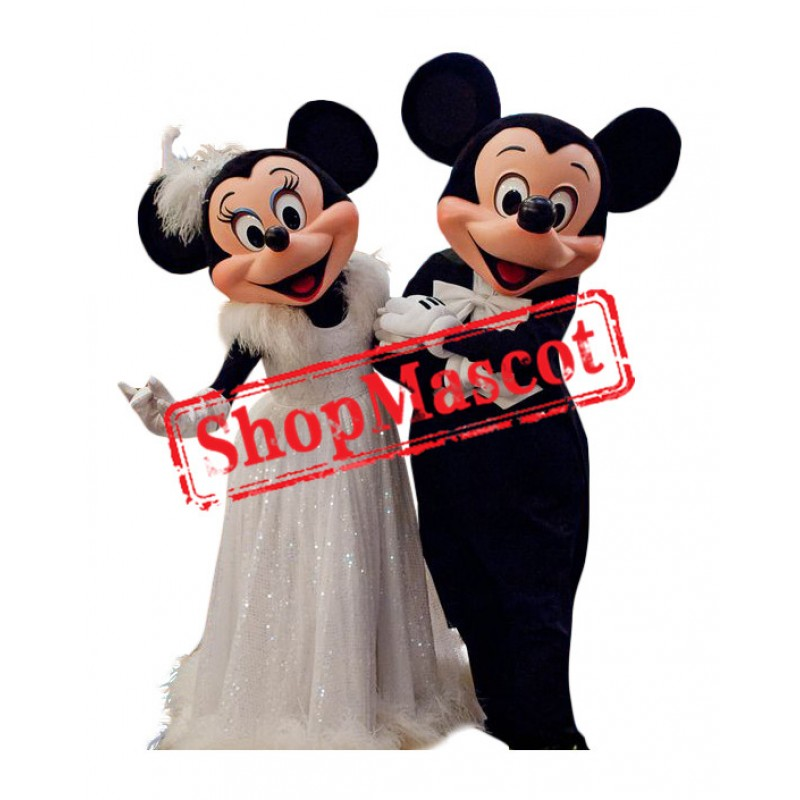 Superb Wedding Mickey & Minnie Mascot Costume