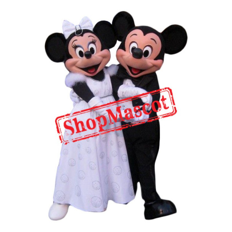 Wedding Mickey & Minnie Mascot Costume