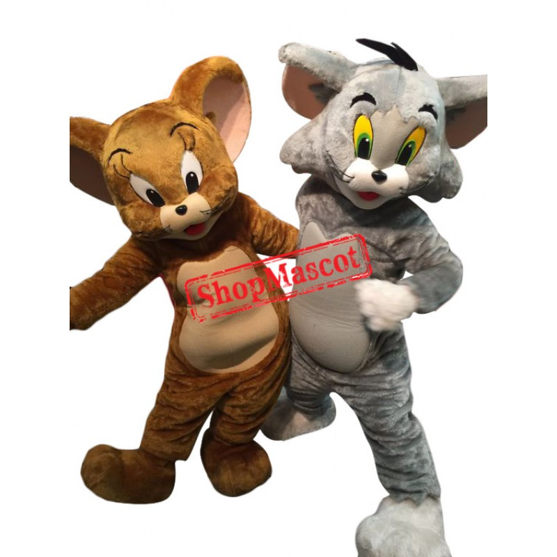 Superb Tom Cat & Jerry Mouse Mascot Costume
