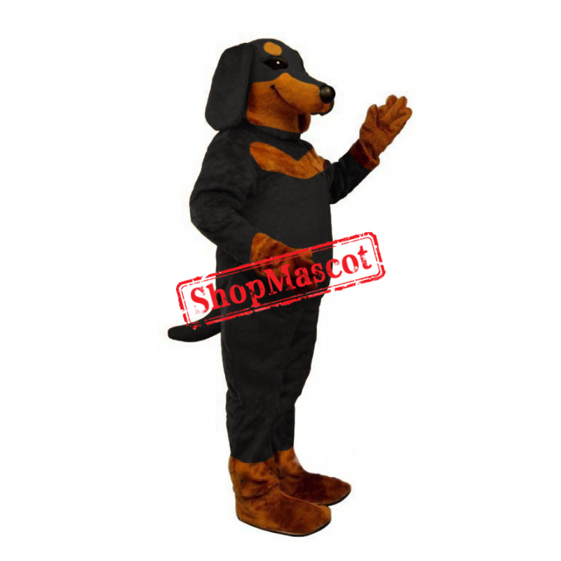 Black and Tan Dachshund Mascot Costume