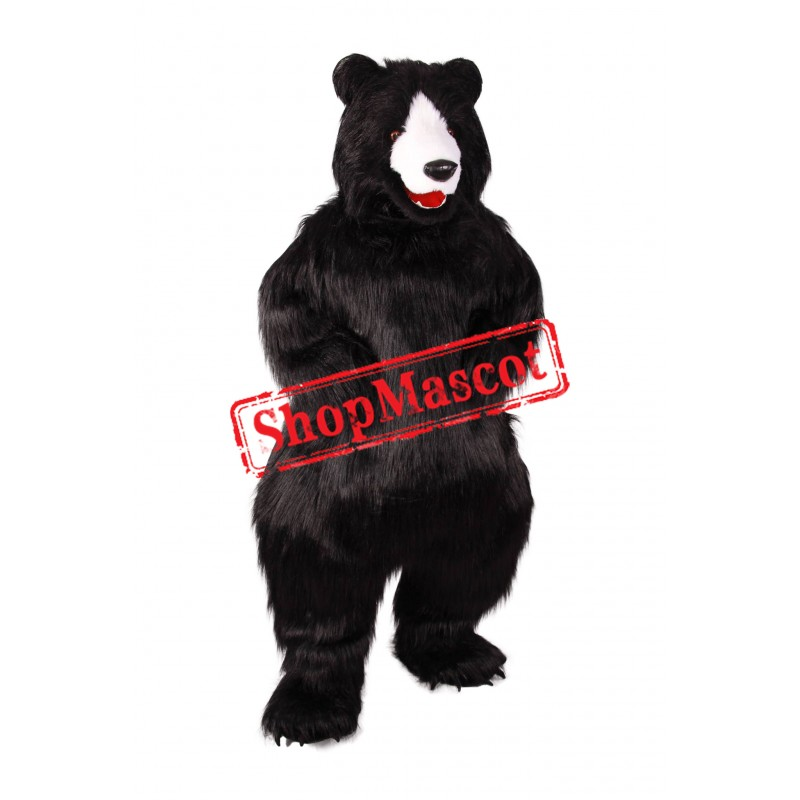Realistic Lightweight Black Bear Mascot Costume