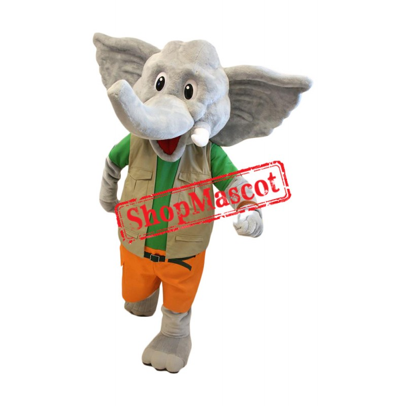 Superb Lightweight Elephant Mascot Costume
