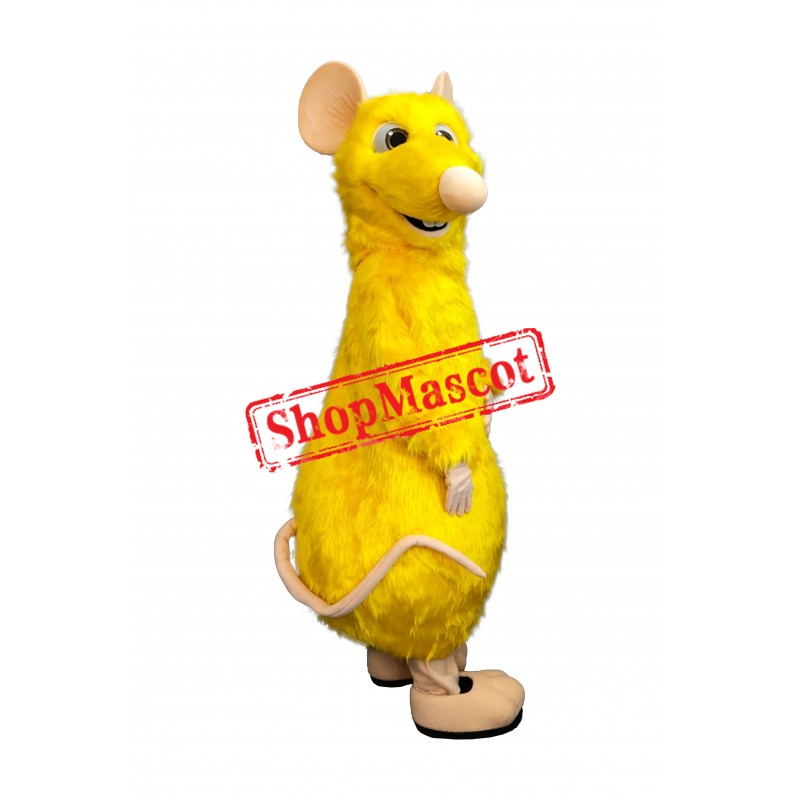 Superb Yellow Mouse Mascot Costume