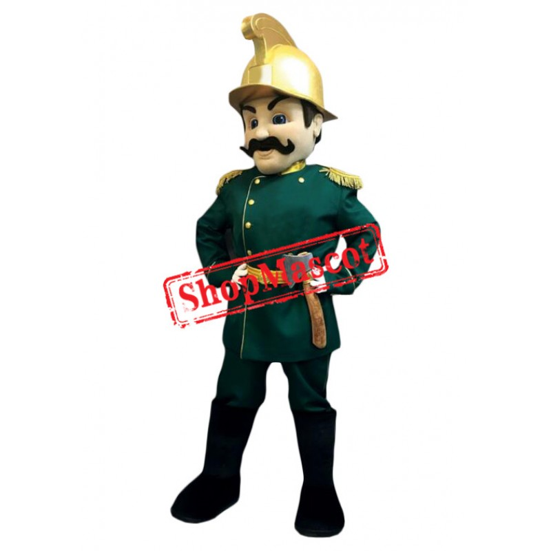 Armed Soldier Mascot Costume