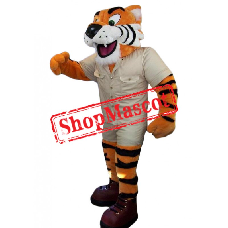 Friendly Tiger Mascot Costume for Adult