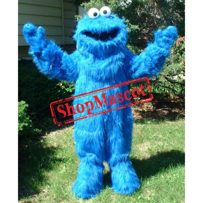 Happy Blue Cookie Monster Mascot Costume