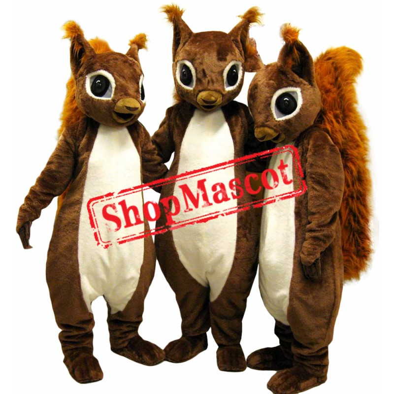 Lovely Single Squirrel Mascot Costume