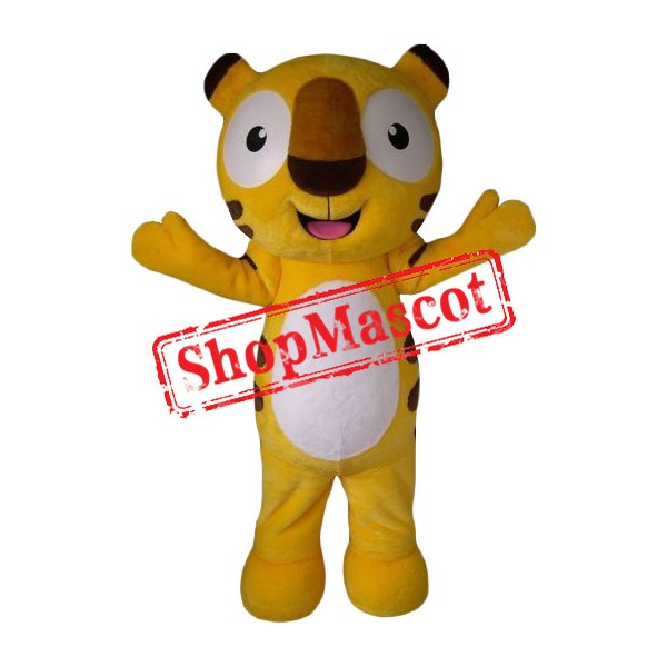 Affordable Happy Tiger Mascot Costume
