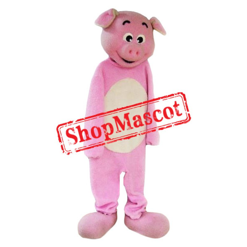 Affordable Lovely Pink Pig Mascot Costume
