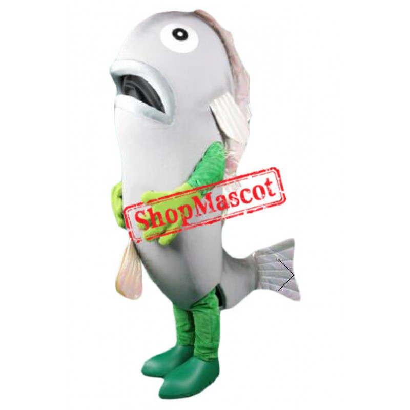 Lovely Silver Fish Mascot Costume