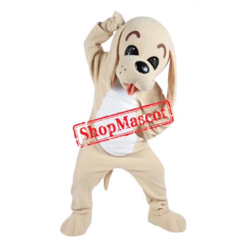 Lovable Brown Dog Mascot Costume
