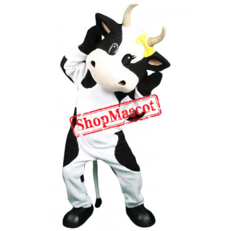 Lovable Cow Mascot Costume