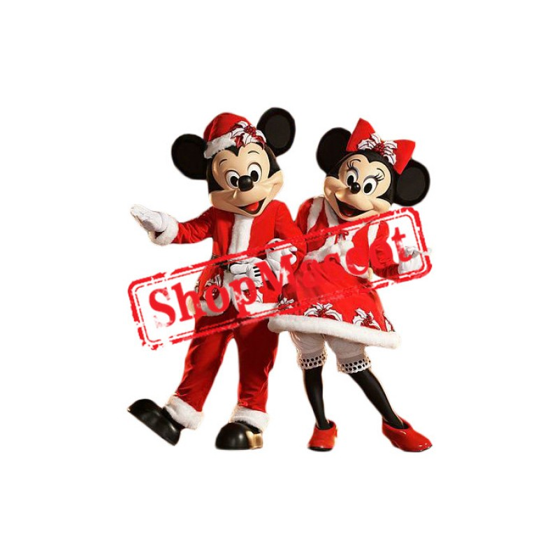 Christmas Mickey & Minnie Mouse Mascot Costume