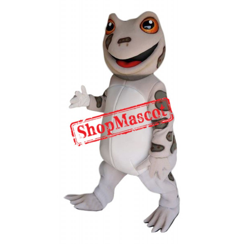 Friendly Brown Frog Mascot Costume