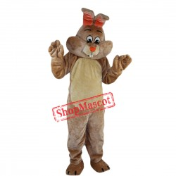 Brown Easter Bunny Rabbit Mascot Costume Custom Anime Cosplay Mascot Fancy Dress