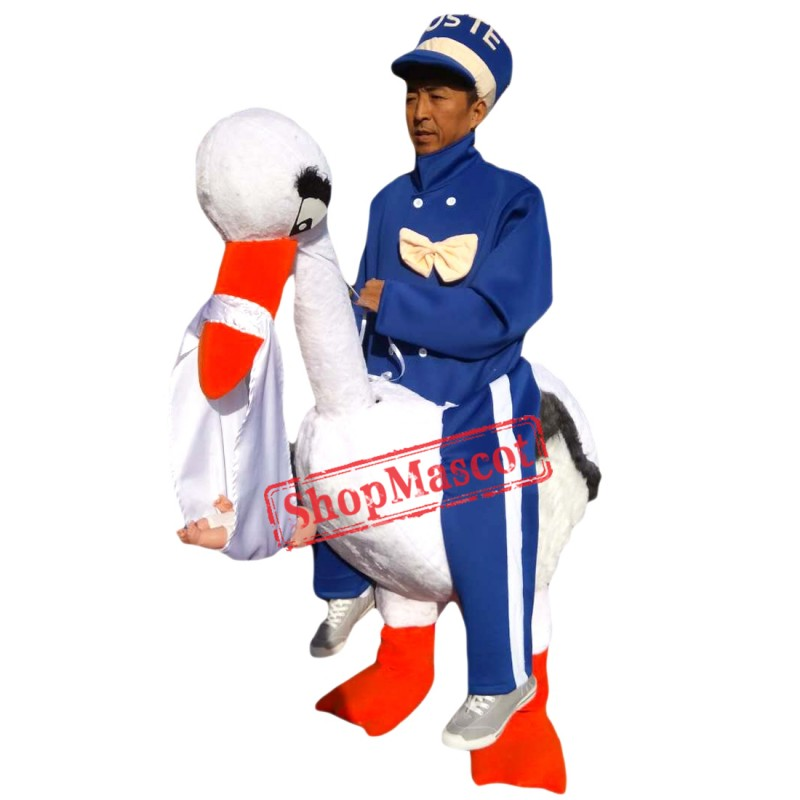 Big White Goose Mascot Advertising Easter Goose Mascot Costume