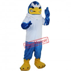 Blue Falcon Mascot Costume Eagle Hawk Custom Fancy Dress