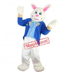 Blue Bunny Mascot Costume Suit Rabbit Custom Fancy Dress