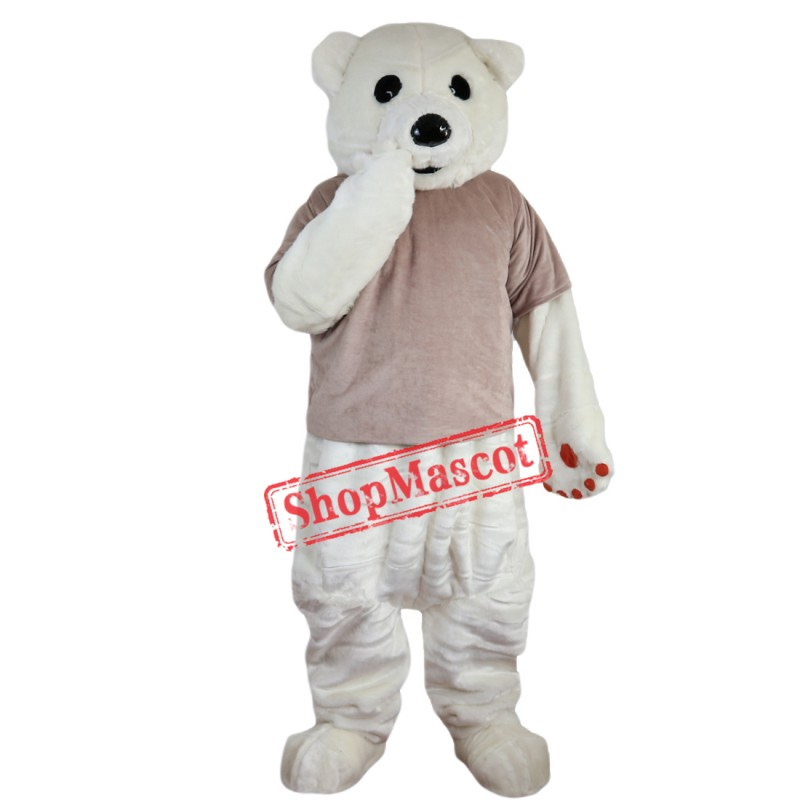 Hot Sale Polar Bear Mascot Costume Custom Fancy Costume Anime Cosplay