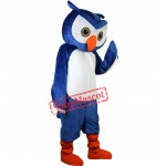 Adult Owl Mascot Costume Blue Owl Cosplay Costumes Free shipping
