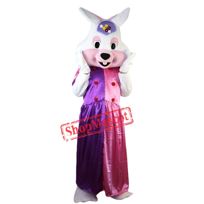 Fancy Dress Easter Bunny Mascot Costume Rabbit Mascot Costume