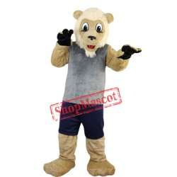 Hot Sale Lion Mascot Costume Adult Size Fancy Dress Suit Free Shipping