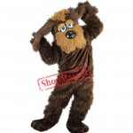 Brown Long Fur Dog Mascot Costume Brown Dog Costume For Sale