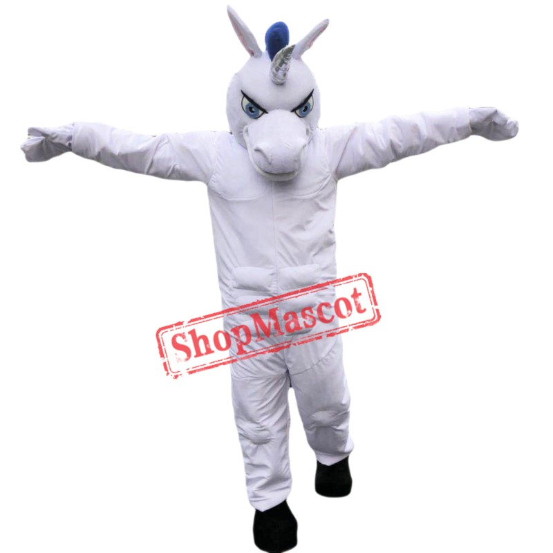Hot Sale White Muscle Unicon Mascot Costume Custom Fancy Costume Unicon Costume