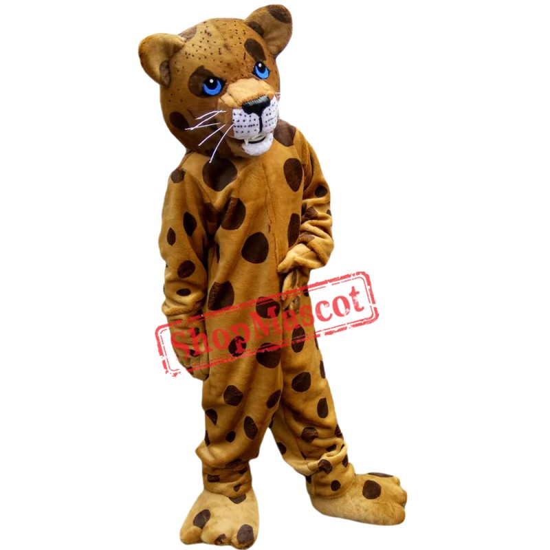 New Hot Sale Spotted Leopard Mascot Costume Adult Size Halloween Outfit Fancy Dress Suit Free Shipping
